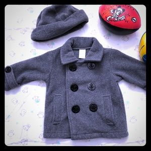 Baby boy Winter Coat with matching hat